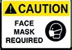 Caution-Face mask