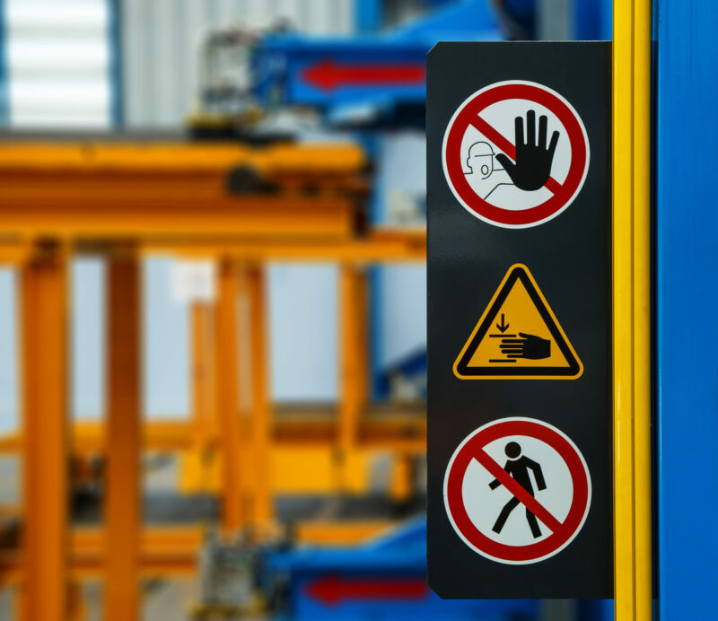 no access warning customized safety signs in the workplace