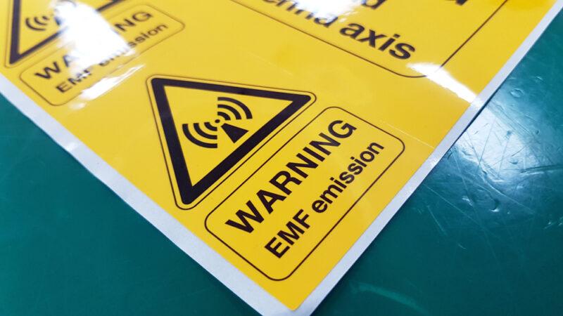 Warning EMF Symbol Sign - Cobra Systems